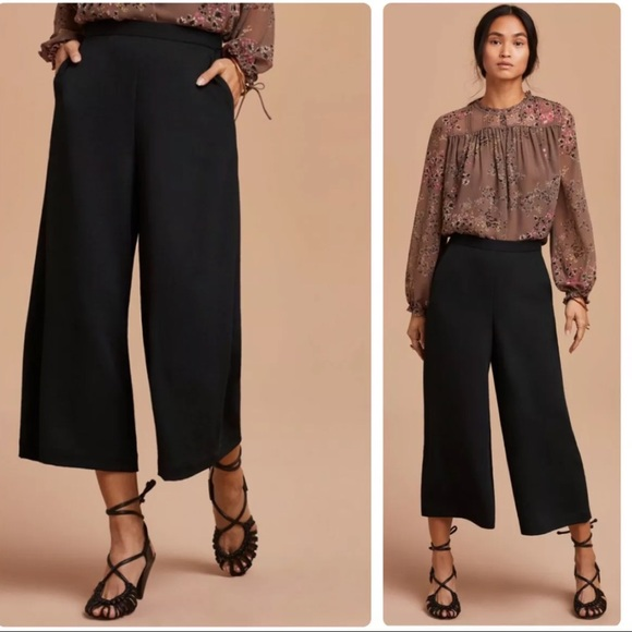Wilfred Lalemant wide leg cropped high waist pants